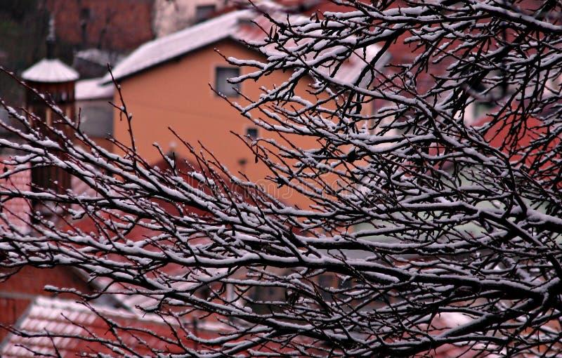 Vinter i Sarajevo, Bosnien och Hercegovina arkivfoton