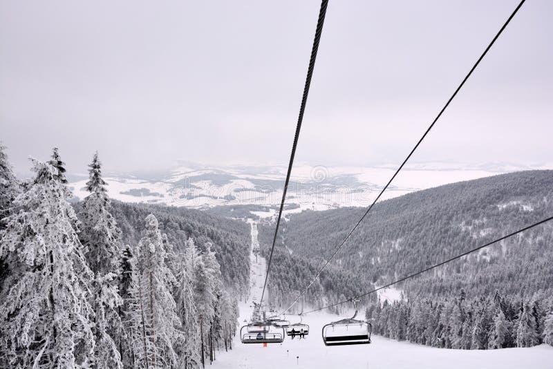 Vinter i Serbien Zlatibor 2017 royaltyfri foto