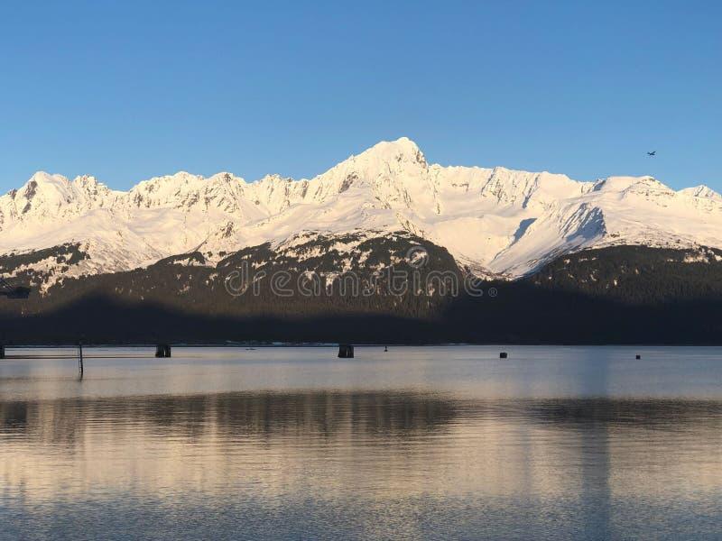 Vinter i Seward Alaska royaltyfri foto