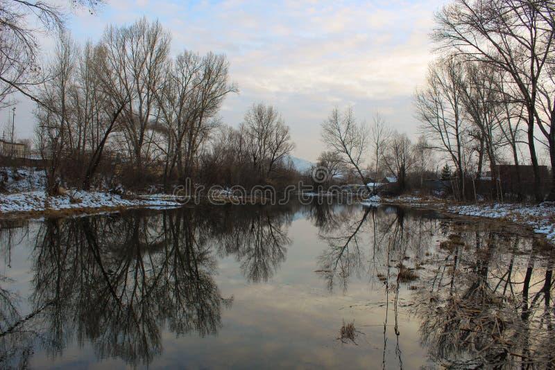 Vinter i spegel arkivfoton