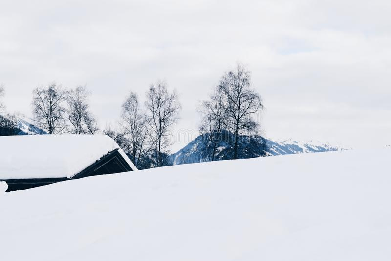 Vinter i Tyrol, Tyrol Österrike, 2018 Januari royaltyfria foton