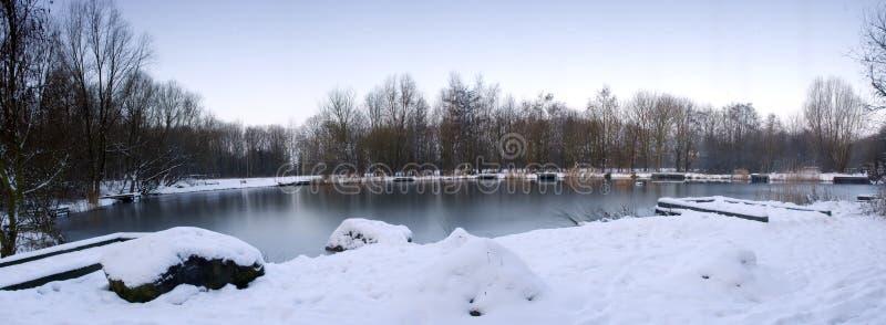 Vinter lake arkivfoton