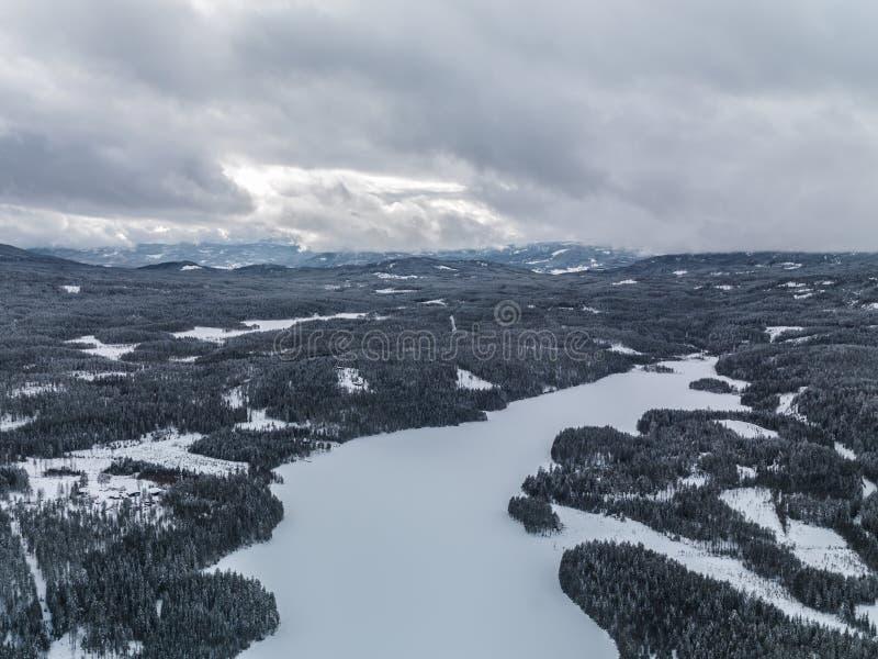 Vinter Norge fotografering för bildbyråer
