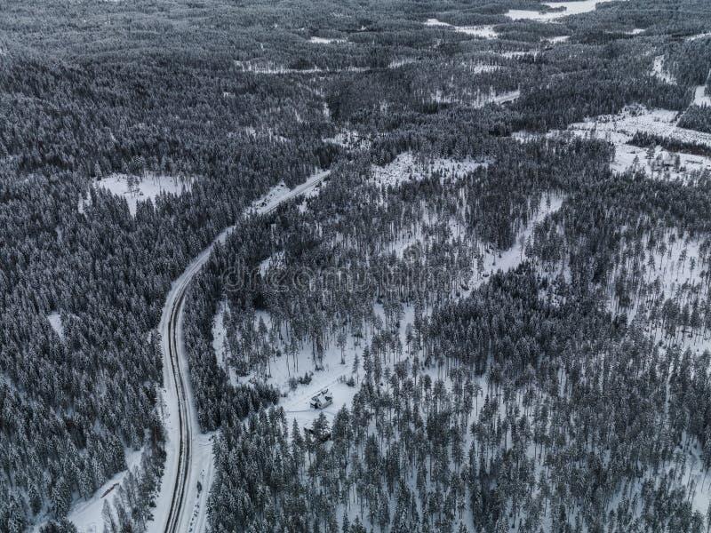 Vinter Norge royaltyfri fotografi