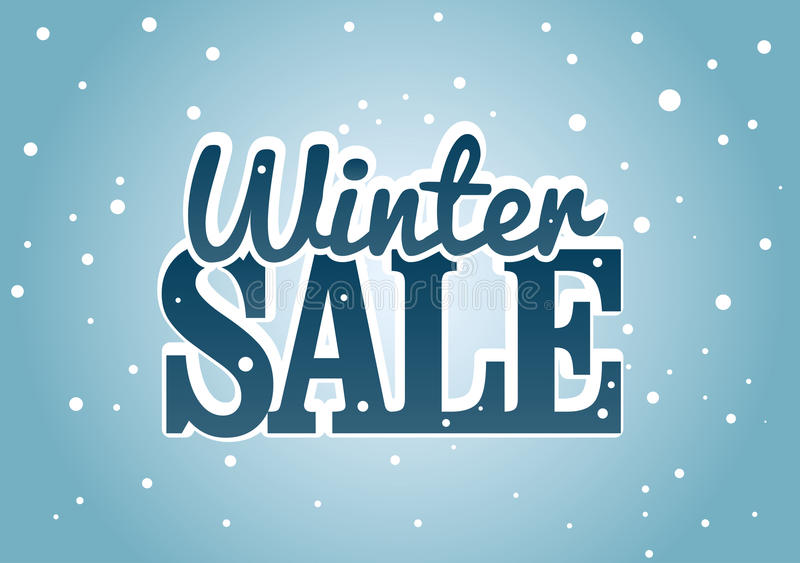 Vinter Sale vektor illustrationer