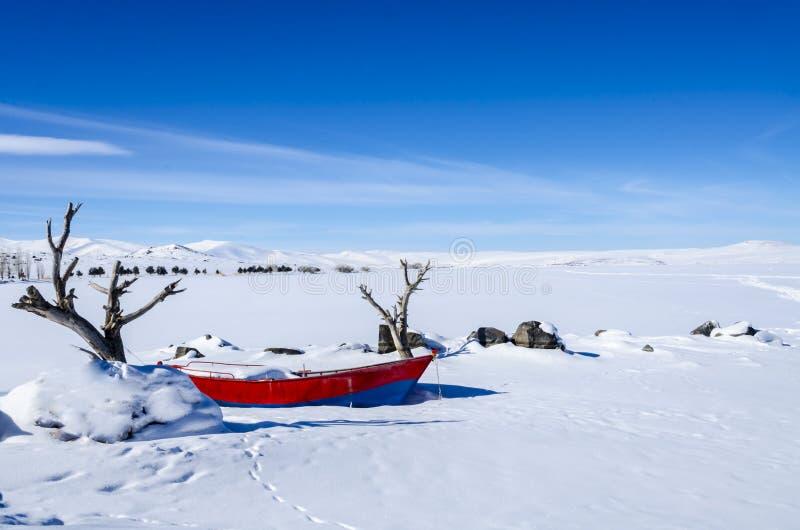 Vinter sjö royaltyfri fotografi