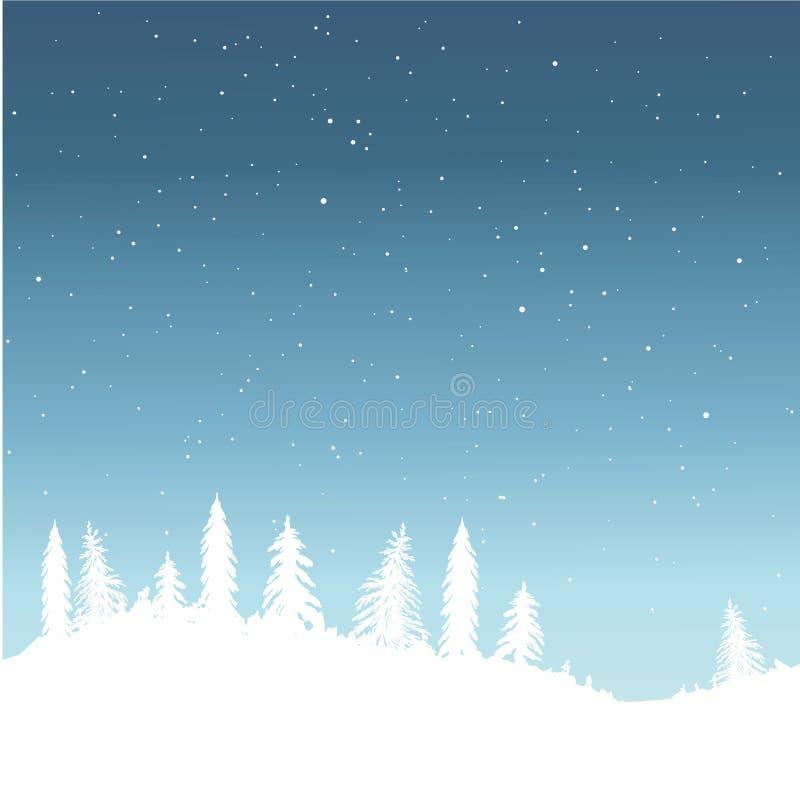 Vinter snö stock illustrationer