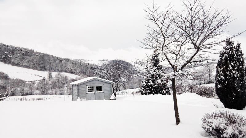 Vinter snö, Campagn, Marcenod arkivfoto
