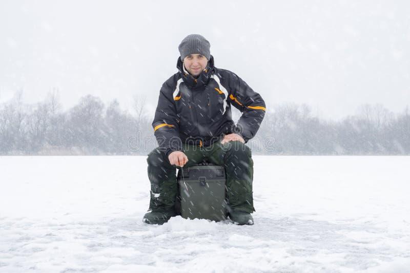 Vinter som fiskar begrepp  royaltyfria bilder