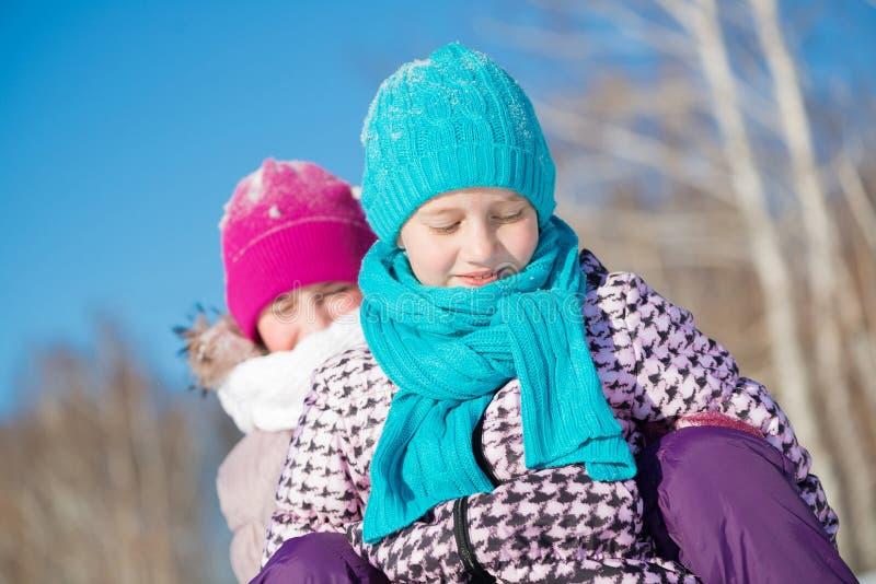 Vinteraktivitet royaltyfria bilder