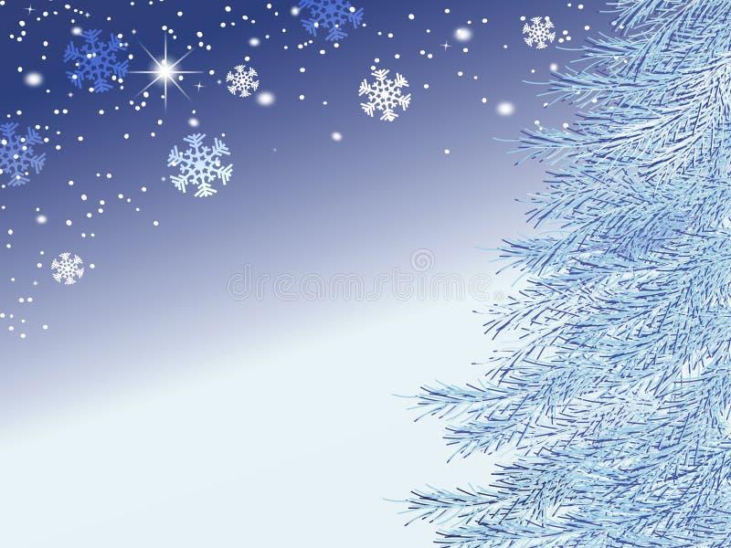 Vinterbakgrund stock illustrationer