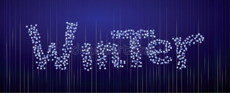 Vinterbakgrund från konfettier arkivbilder