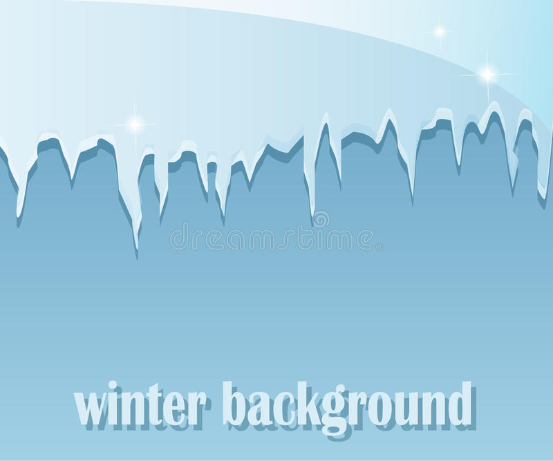 Vinterbakgrund med istappar stock illustrationer