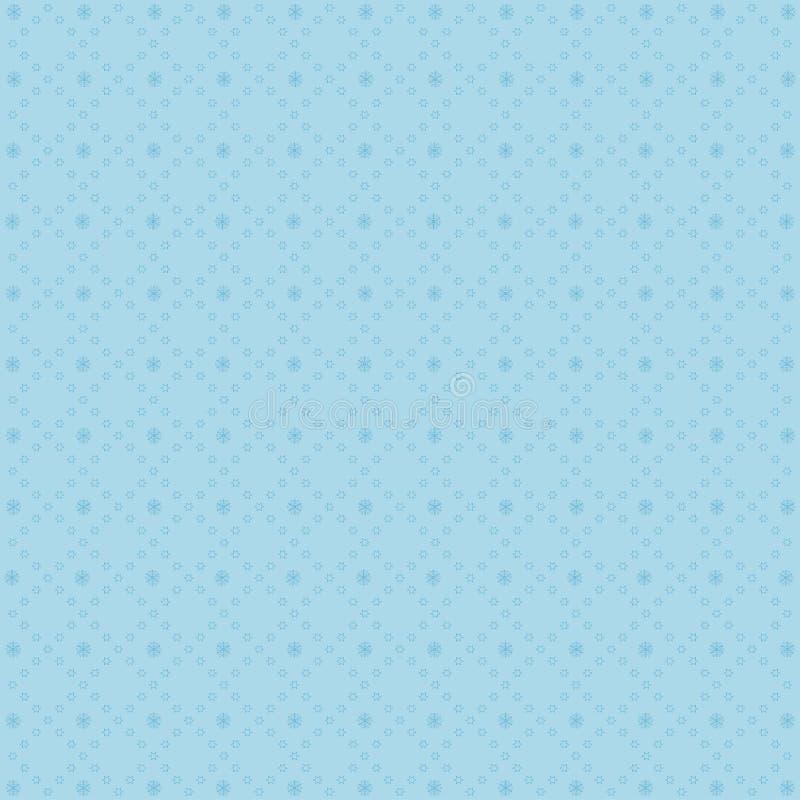 Vinterbakgrund med snöflingaillustrationen stock illustrationer