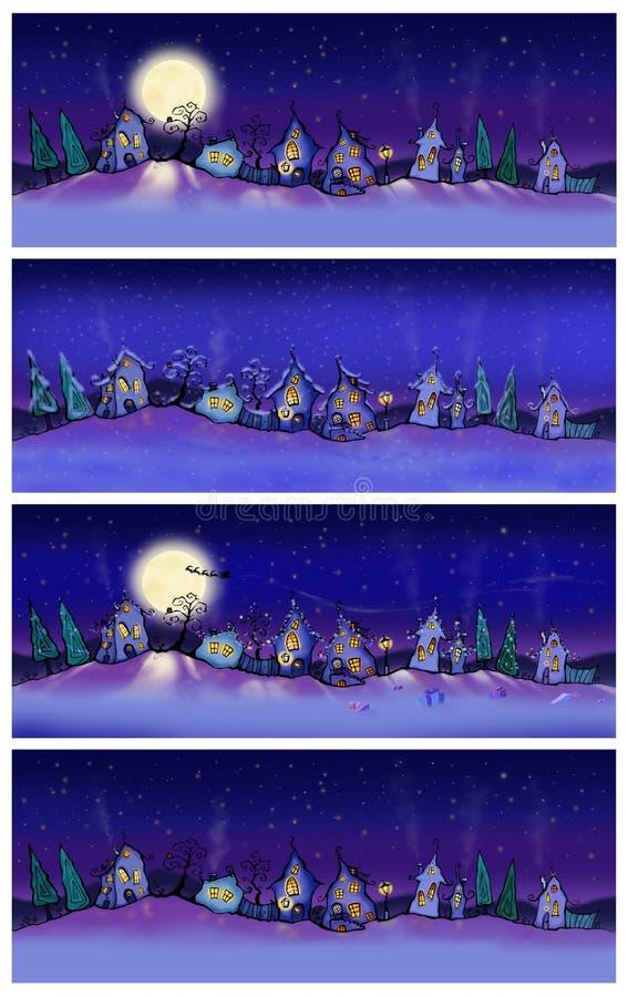 Vinterbaner vektor illustrationer