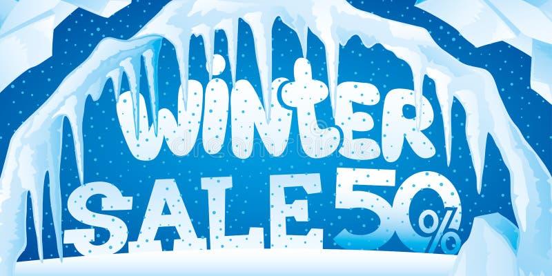 Vinterbaner av is och istappar vektor illustrationer