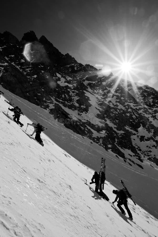Vinterbergklättring Royaltyfria Foton