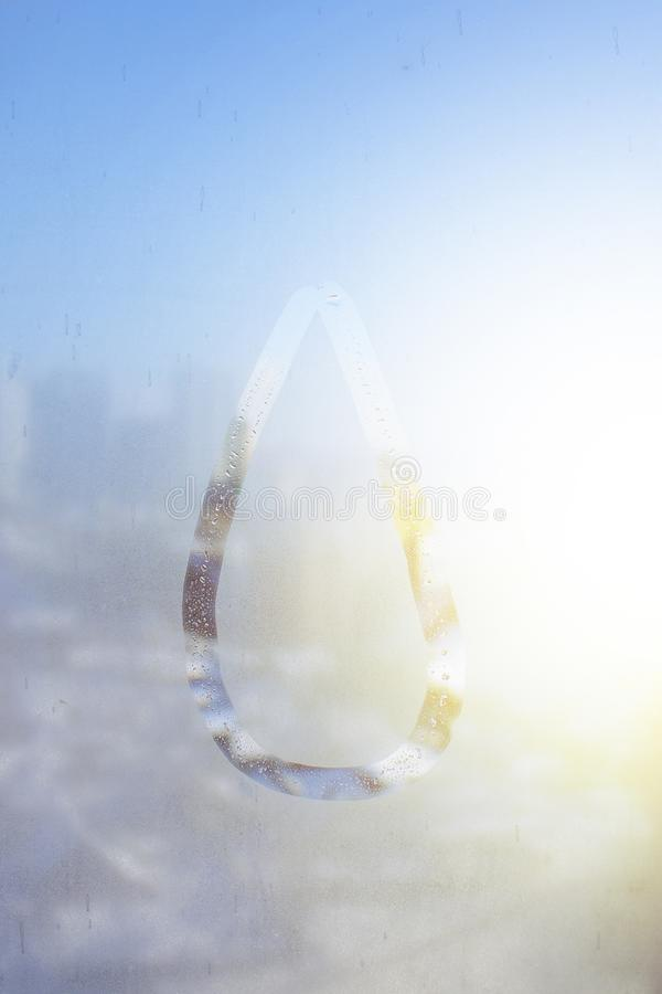 Vinterdag som drar på svettigt exponeringsglas royaltyfria bilder