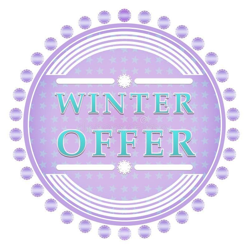 Vintererbjudandeetikett stock illustrationer