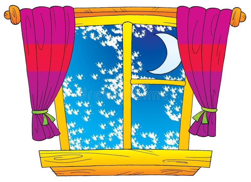 Vinterfönster vektor illustrationer