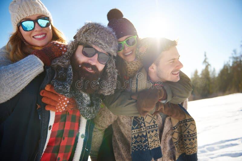 Vinterferie royaltyfria foton