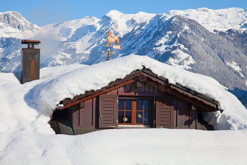 Vinterferiehus arkivfoto