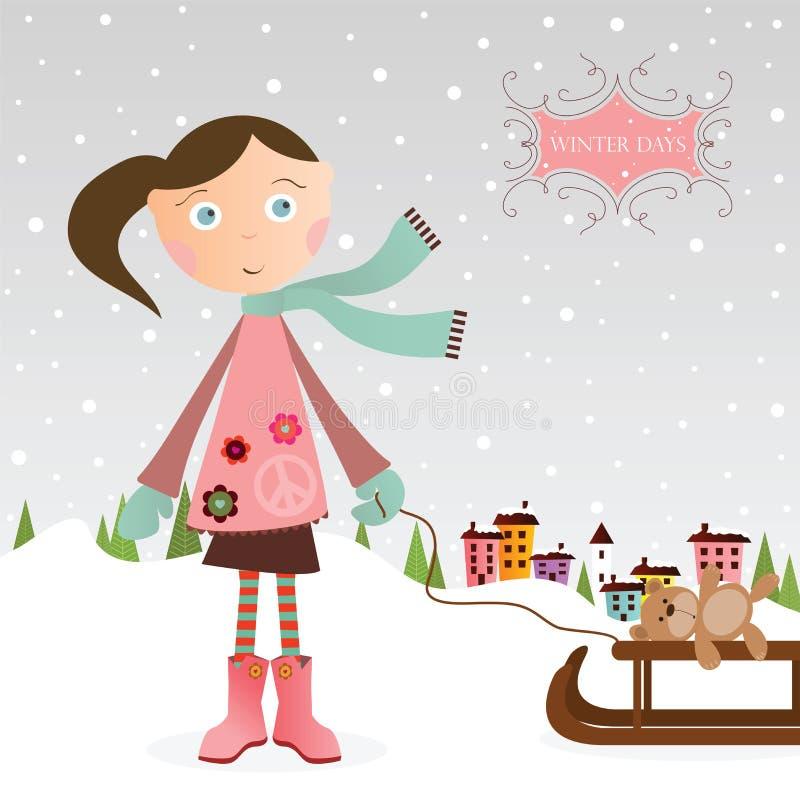 Vinterflicka Royaltyfri Bild