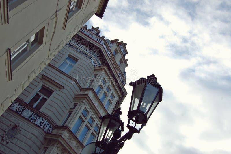 Vintergatalampa Prague royaltyfri fotografi