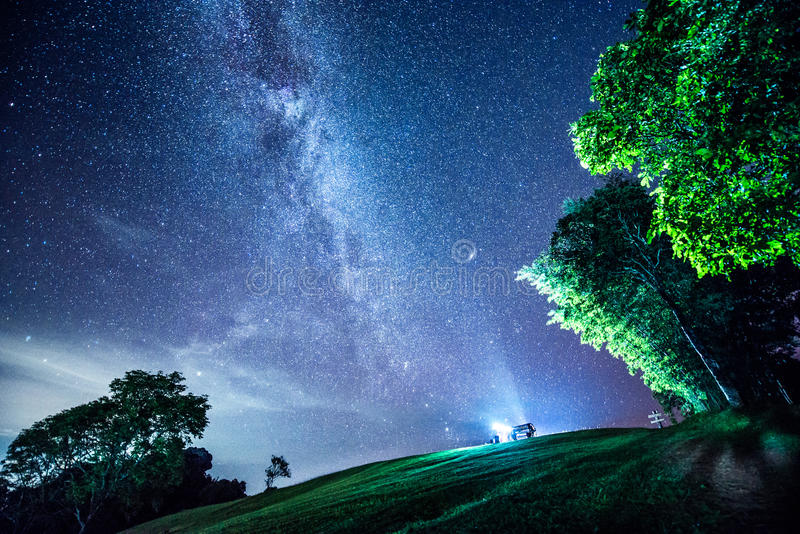 Vintergatan royaltyfria bilder