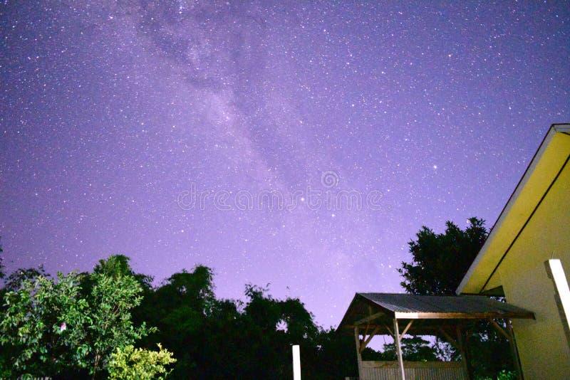 Vintergatan arkivbild