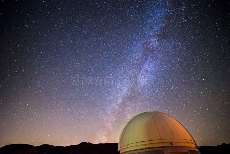 Vintergatan från Joshua Tree royaltyfri foto