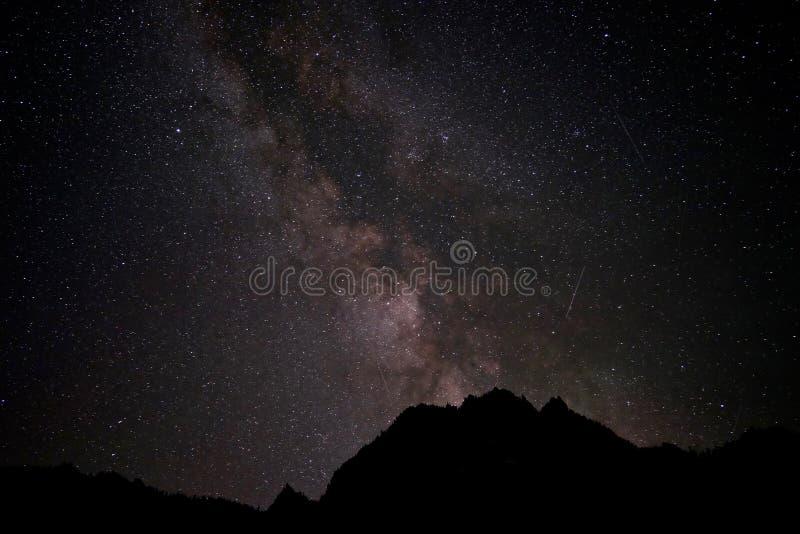 Vintergatan- och skyttestjärnor royaltyfri bild