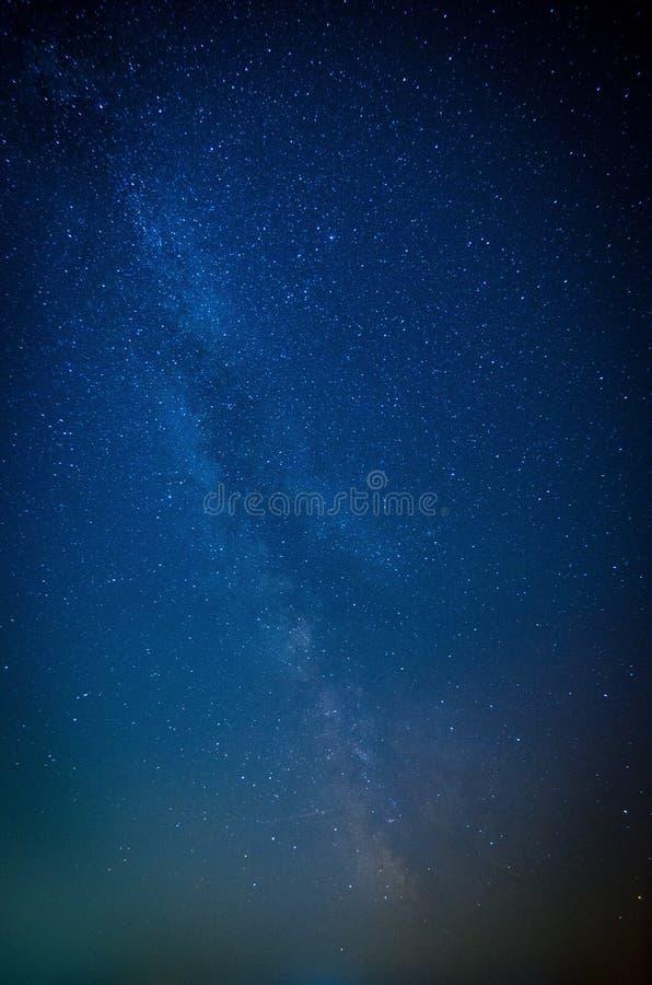 Vintergatan, stjärnor och himmel royaltyfria bilder