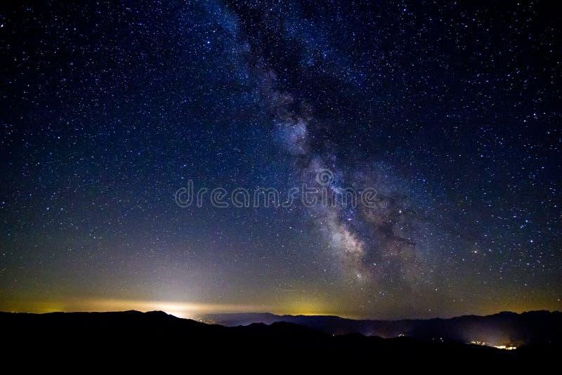 Vintergatan, Washington State royaltyfria bilder