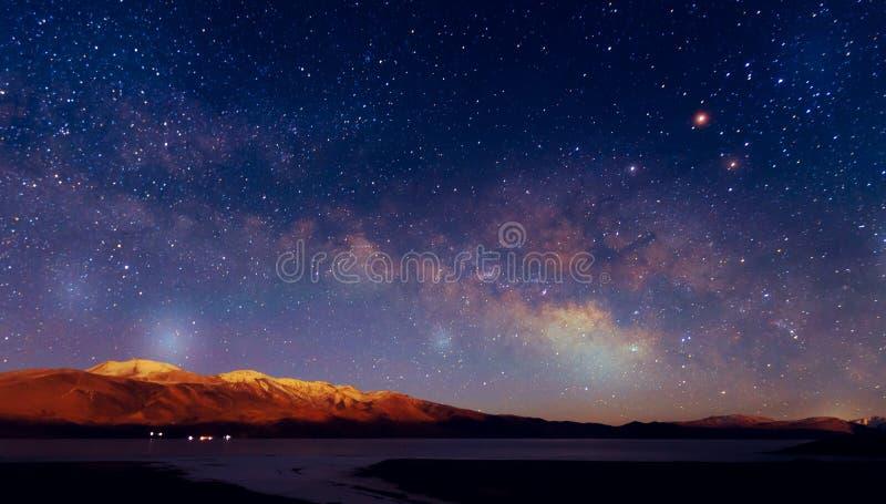 Vintergatangalax royaltyfria foton
