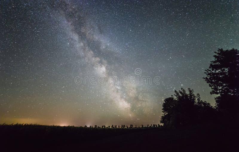 Vintergatanstjärnor arkivfoton