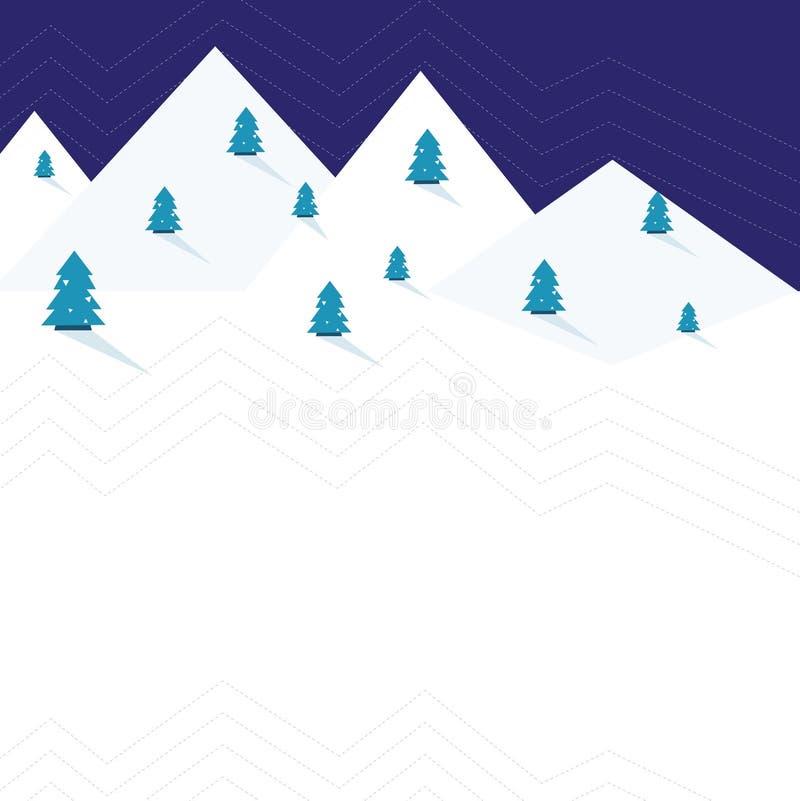 Vinterhälsningkort royaltyfri illustrationer