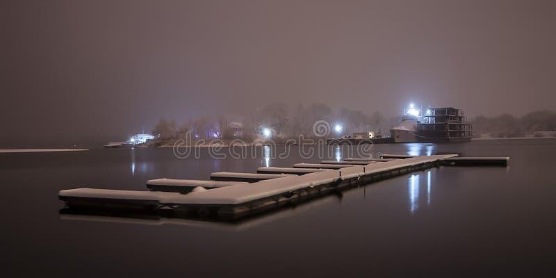 Vinterhyttskepp fotografering för bildbyråer