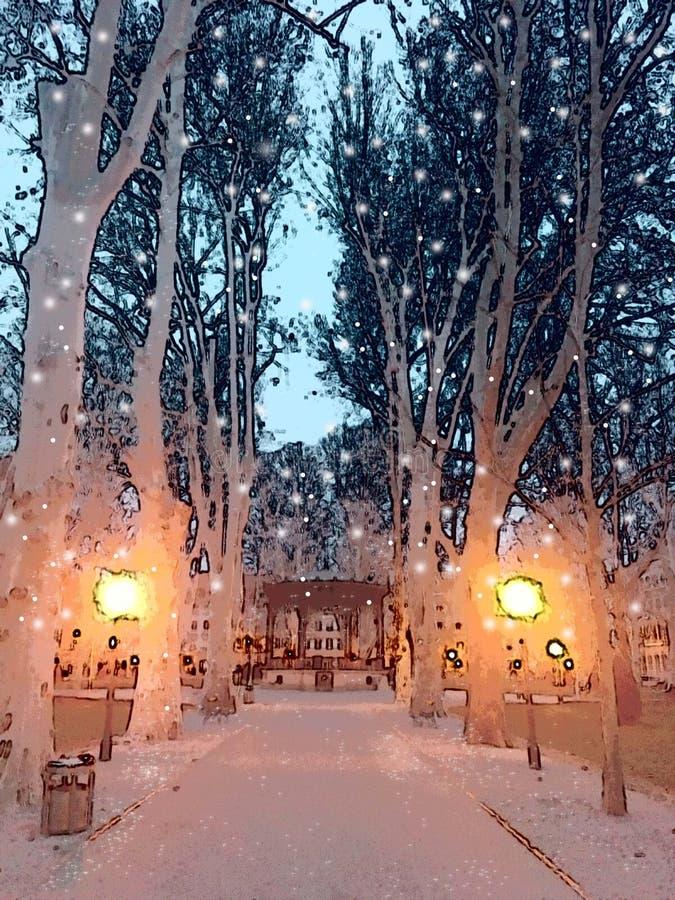 Vinteridyll royaltyfri fotografi