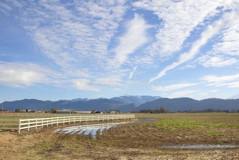 Vinterjordbruksmark i den Canadas västkusten fotografering för bildbyråer