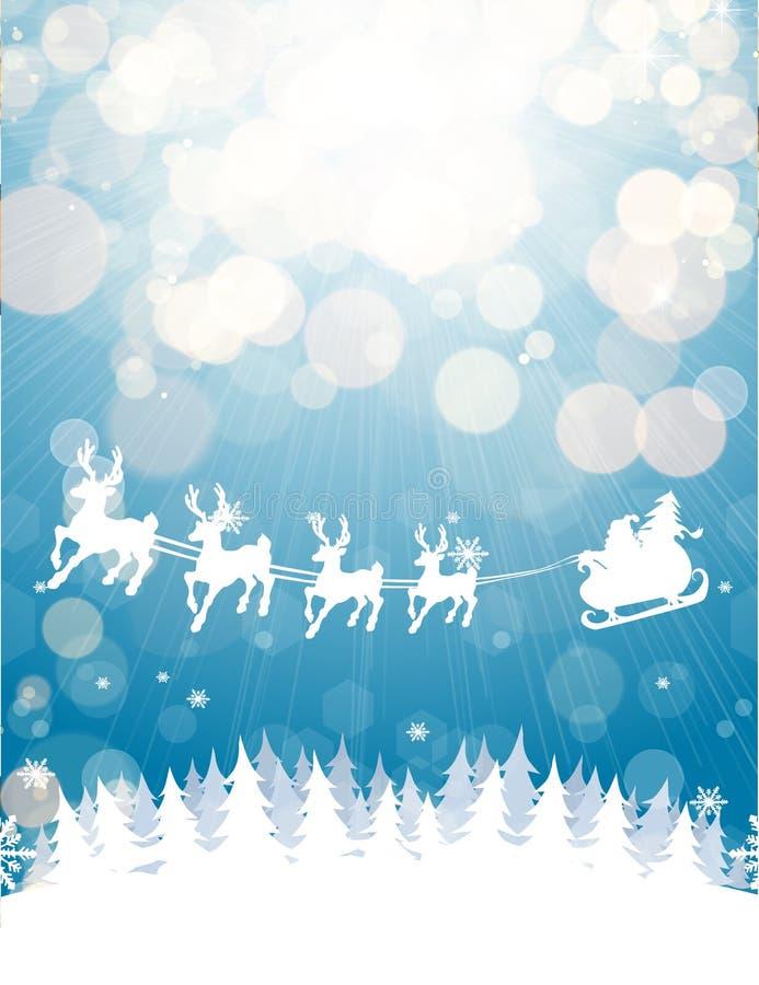 Vinterjulbakgrund stock illustrationer