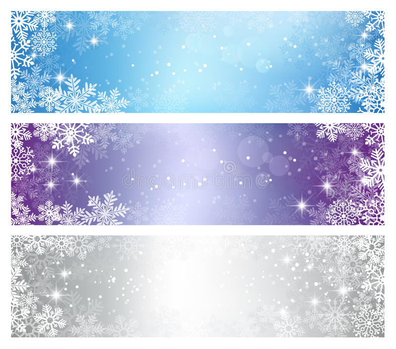 Vinterjulbaner stock illustrationer