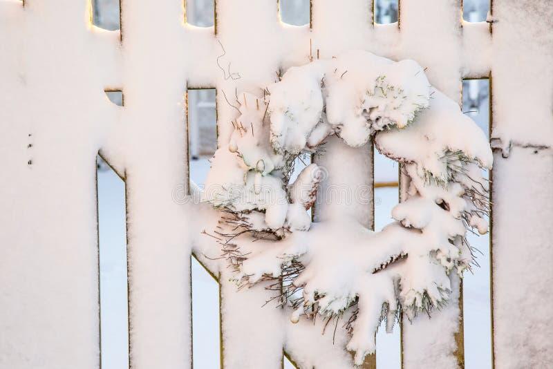 Vinterjulkrans royaltyfri fotografi