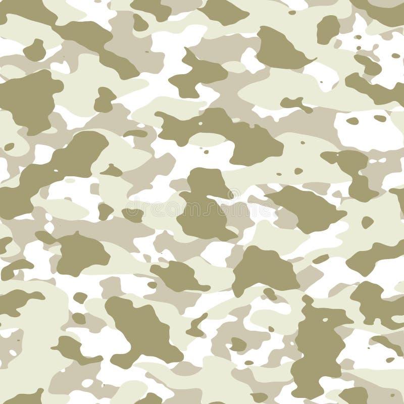 Vinterkamouflagemodell S?ml?s texturillustration royaltyfri illustrationer