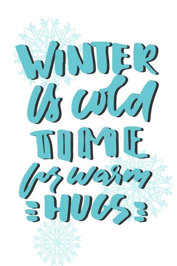 Vinterkramar Handbokstäver för din design också vektor för coreldrawillustration stock illustrationer