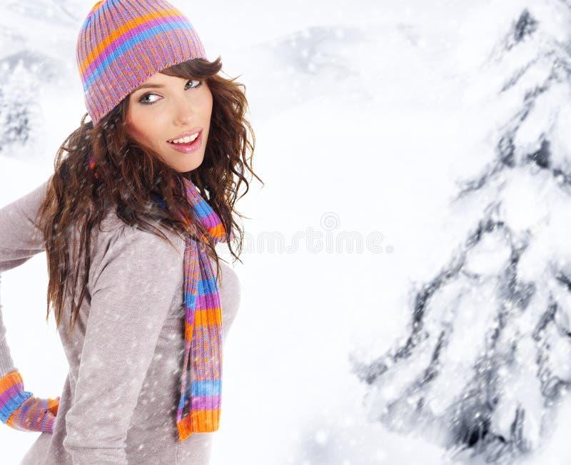 vinterkvinna royaltyfria bilder