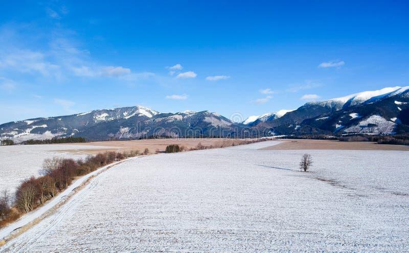 Vinterland från ett surr arkivfoton