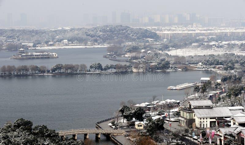 Vinterlandskap av Suzhou arkivbilder