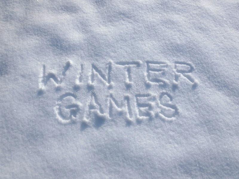 Vinterlekar - snöhandstil royaltyfri bild