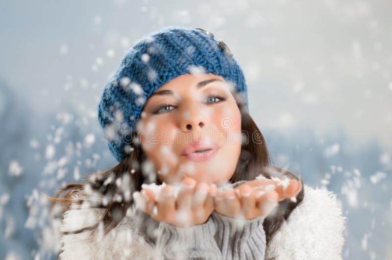 Vinterlycka och carefree royaltyfri fotografi